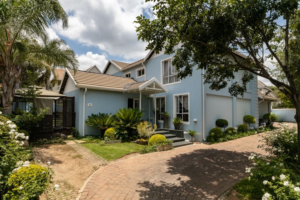 This spacious family home with four bedrooms and staff accommodation at Woodlands Lifestyle Centre is on the market through Pam Golding Properties for R3.550 million.